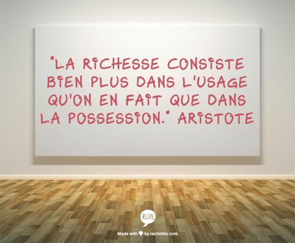 aristote-richesse