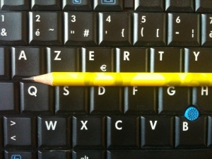 écriture contre clavier