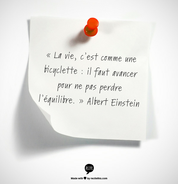 citation Einstein équilibre
