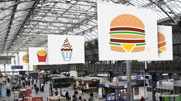 campagne pictogrammes mcdonald's