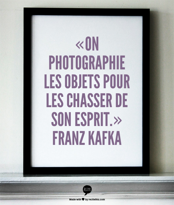 citation franz kafka photographie