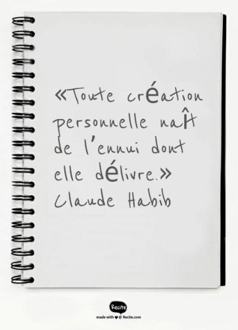 claude habib citation ennui