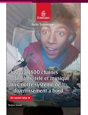 système de divertissement campagne Emirates