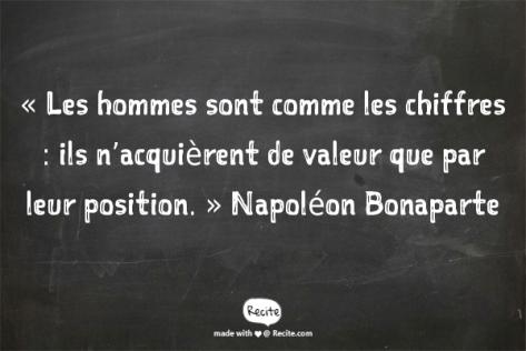 citation chiffres Napoléon