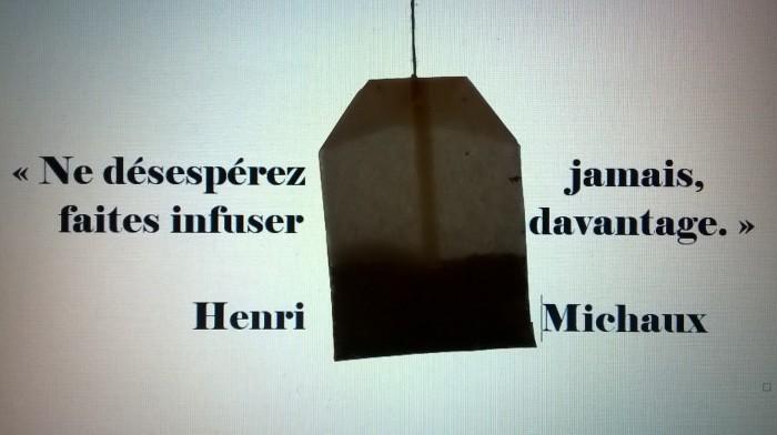 citation Henri Michaux Ne désespérez jamais espoir