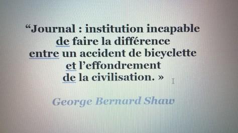 citation George Bernard Shaw journal presse