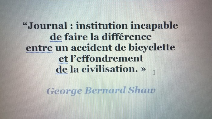 citation George Bernard Shaw journal presse