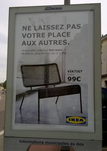 IKEA mai 2016 Ne laissez pas votre place aux autres