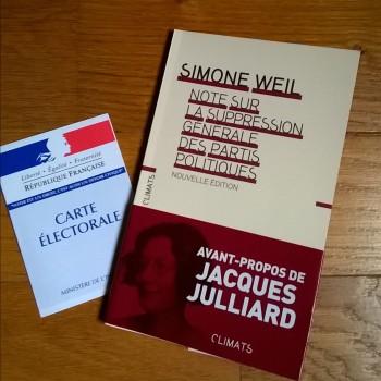 Simone Weil Note sur la suppression des partis politiques Climats
