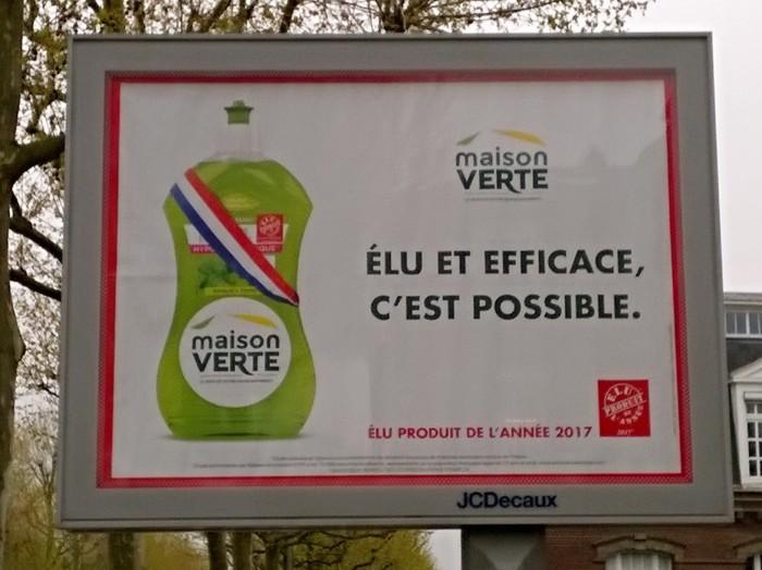 Liquide vaisselle Maison Verte, élu produit de l'année 2017, élu et efficace, c'est possible