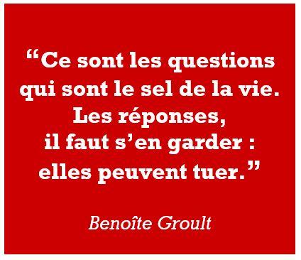 citation Benoite Groult questions réponses