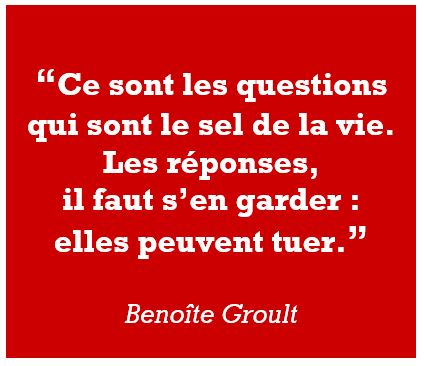 citation Benoite Groult questions réponses