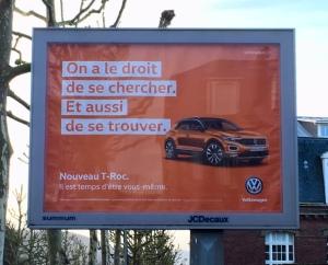 Volkswagen T-Roc affiche Il est emps d'être vous-même