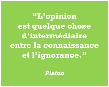 Platon citation ignorance connaissance