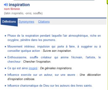 inspiration définition Comment avoir des idées ?