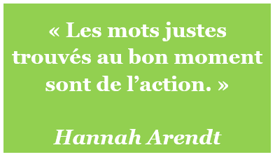 citation Hannah Arendt mots action