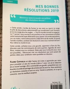 Mes bonnes résolutions -100 résolutions que vous allez tenir en 2019 - Florence Cathala - Librio