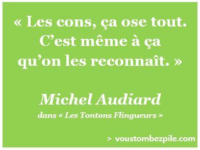 citation Michel Audiard Les cons ça ose tout connerie