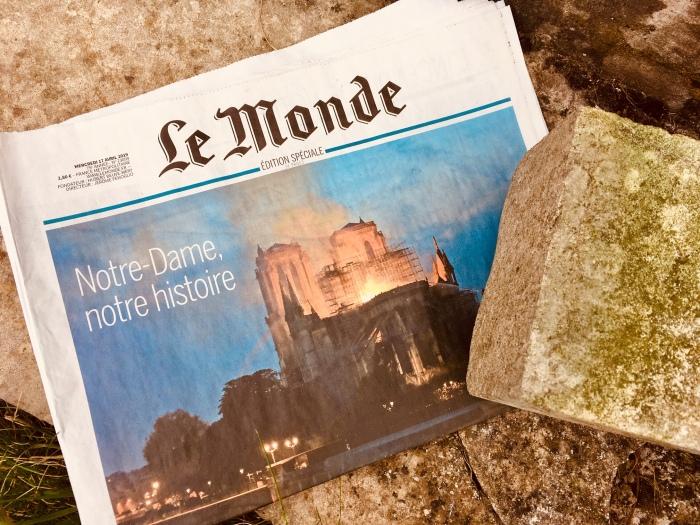 Notre-Dame de Paris, 15 avril 2019, incendie, réflexion psychologique