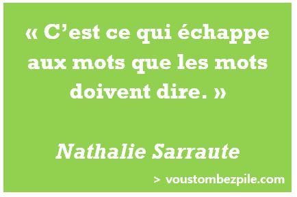 citation, mots, Nathalie Sarraute
