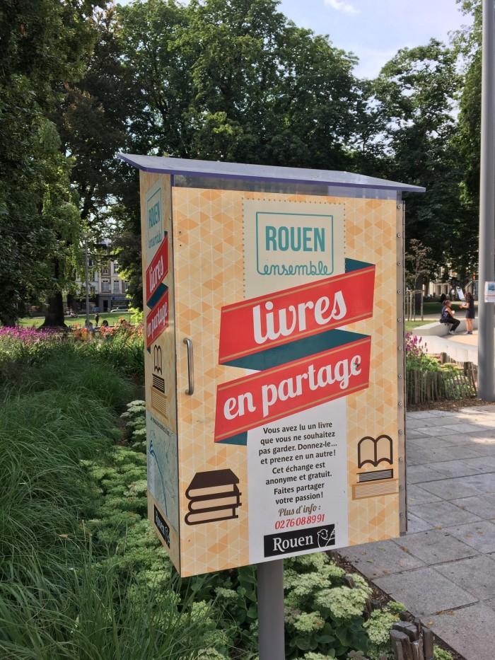 boîte à livres bookcrossing Rouen