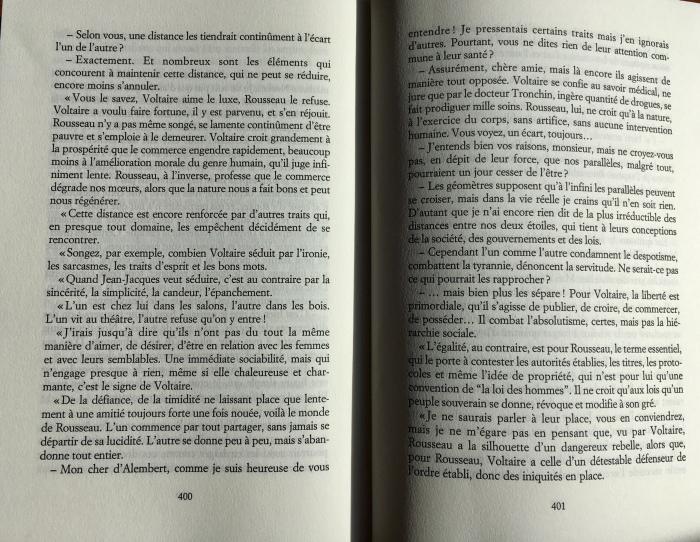Roger-Pol Droit Monsieur, je ne vous aime point Voltaire Rousseau p.400 401