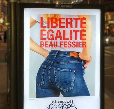 liberté égalité beau fessier le temps des cerises pub