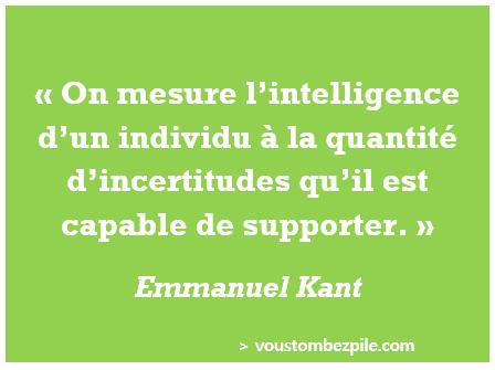 citation intelligence incertitude Kant