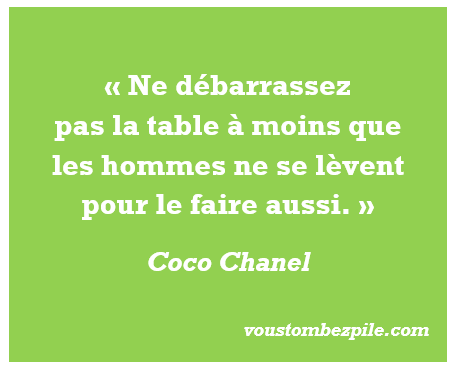 citation Coco Chanel féminisme hommes